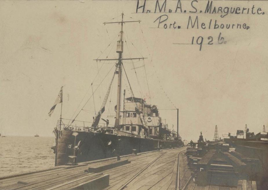 HMAS Marguerite in Port Melbourne 1926