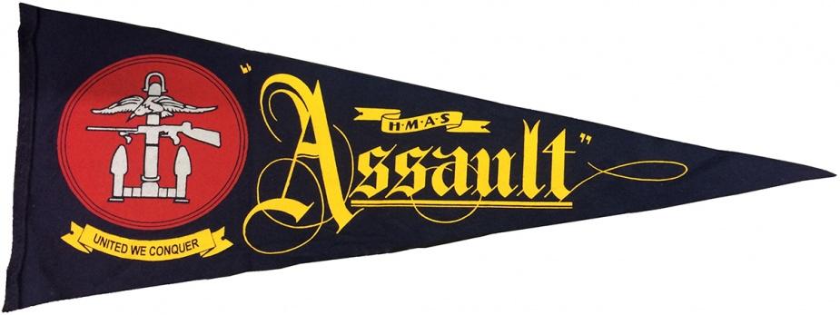 HMAS Assault pennant.