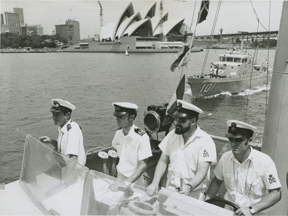 HMA ships Barbette and Bayonet departed Sydney for a new home port in Cairns. 25 January 1971