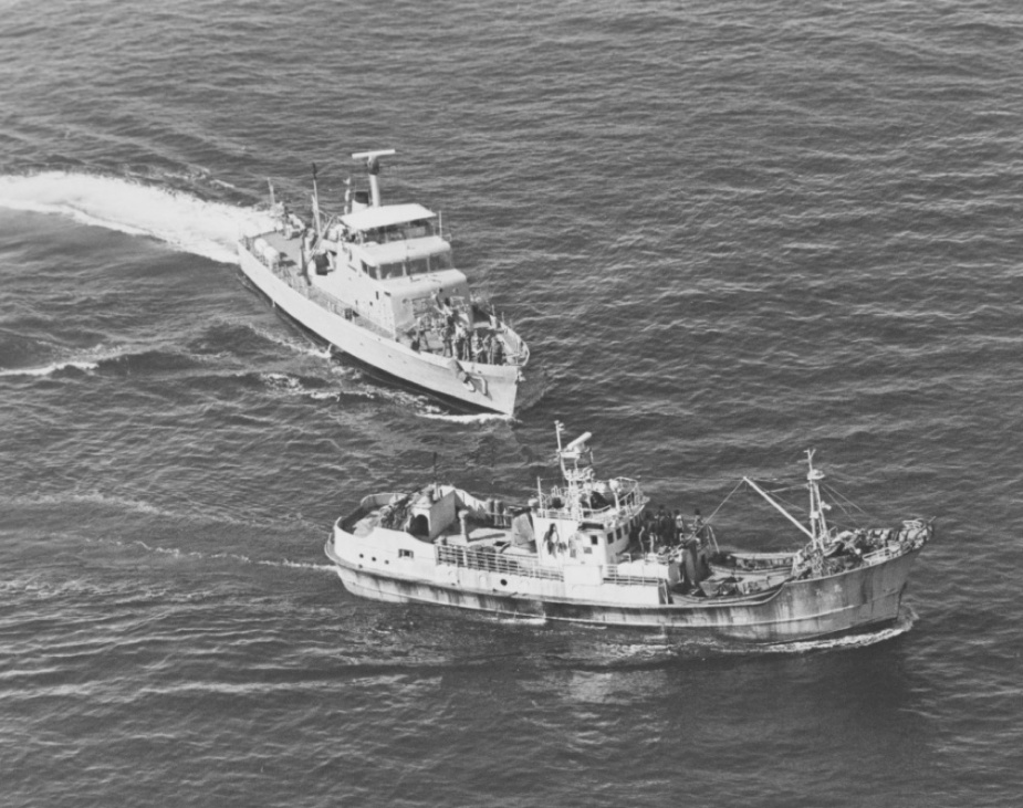 One of many Taiwanese fishing vessels which were arrested by HMAS Barbette in 1976.