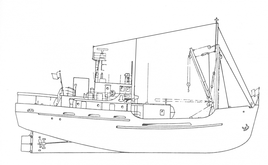 HMAS Bass general arrangement plan