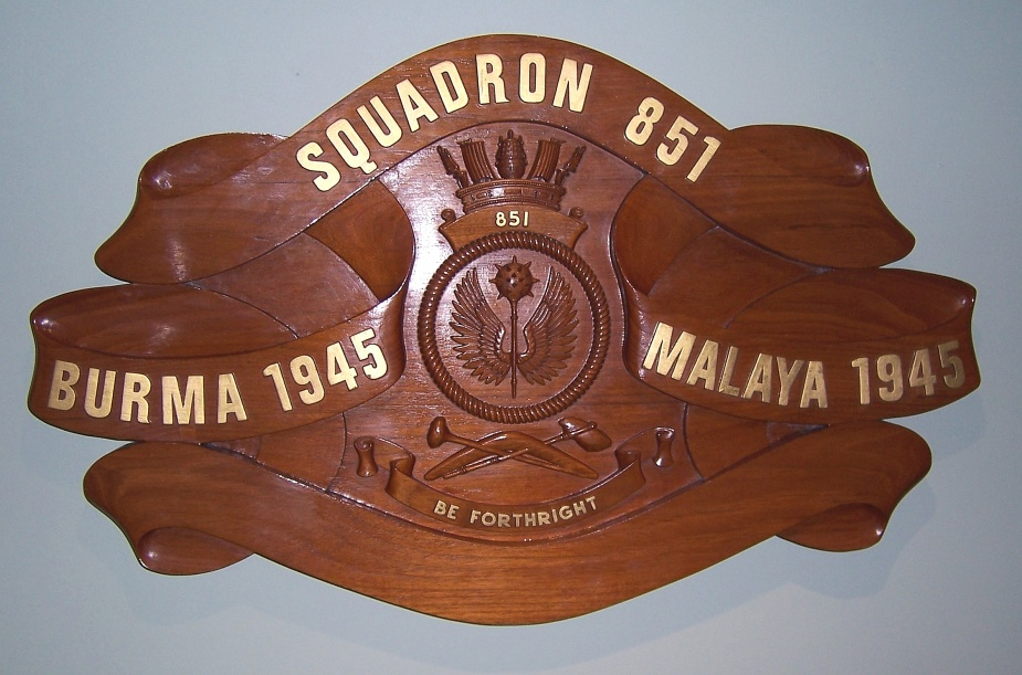 Although 851 Squadron is no longer active, her battle honour board is proudly displayed at the Fleet Air Arm Museum, NAS Nowra.
