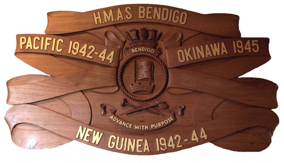 HMAS Bendigo Battle Honours Board