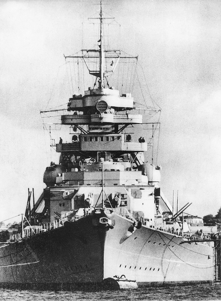 Germany's most modern and powerful battleship, Bismarck.