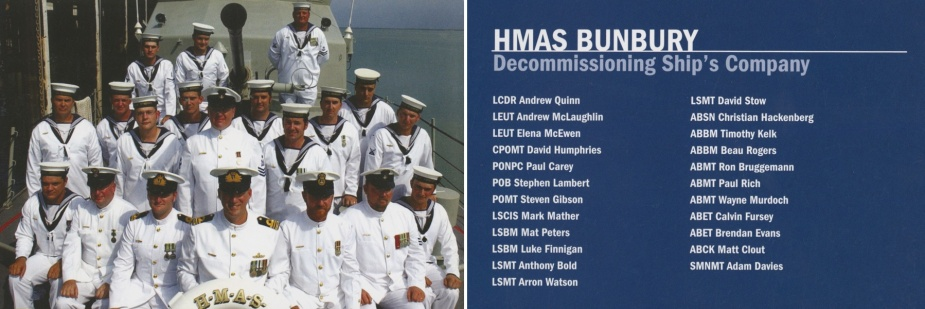 Decommissioning crew of HMAS Bunbury (II).