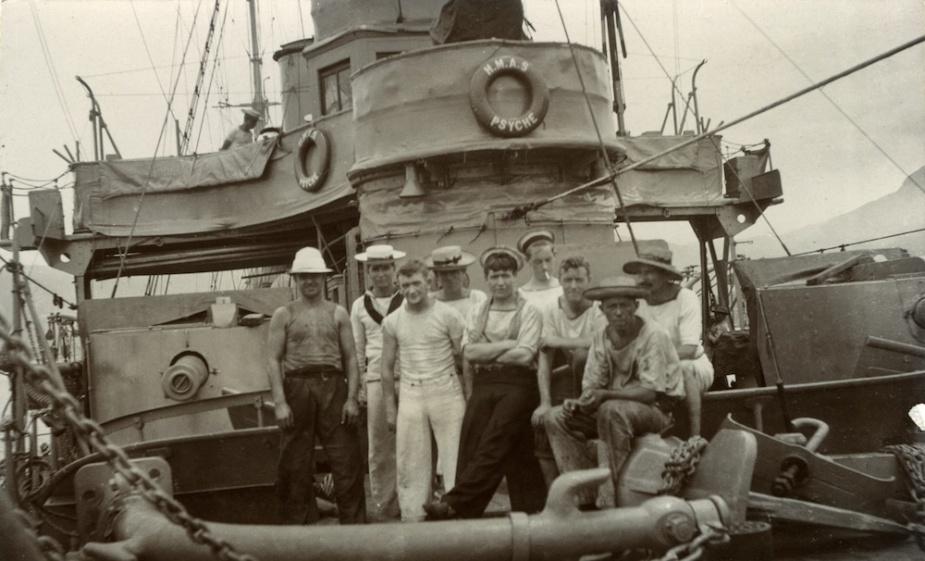 Sailors onboard HMAS Psyche