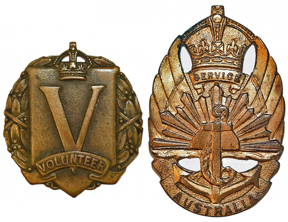 Left: General Service Badge - Type 1. Right: General Service Badge - Type 2.