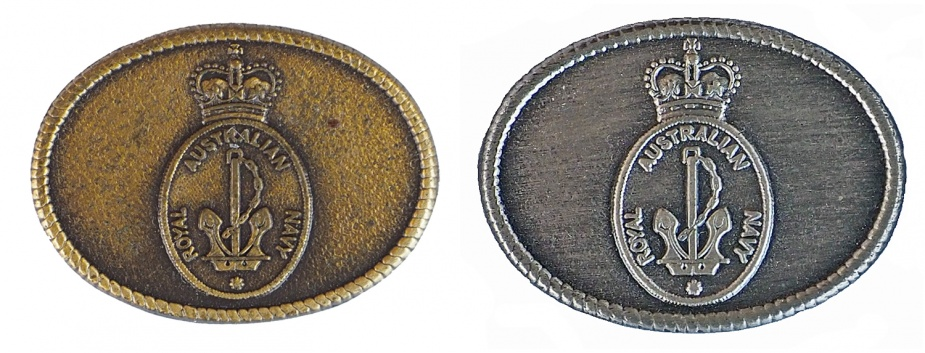 Left: Gold Chief of Navy Commendation. Right: Silver Chief of Navy Commendation.