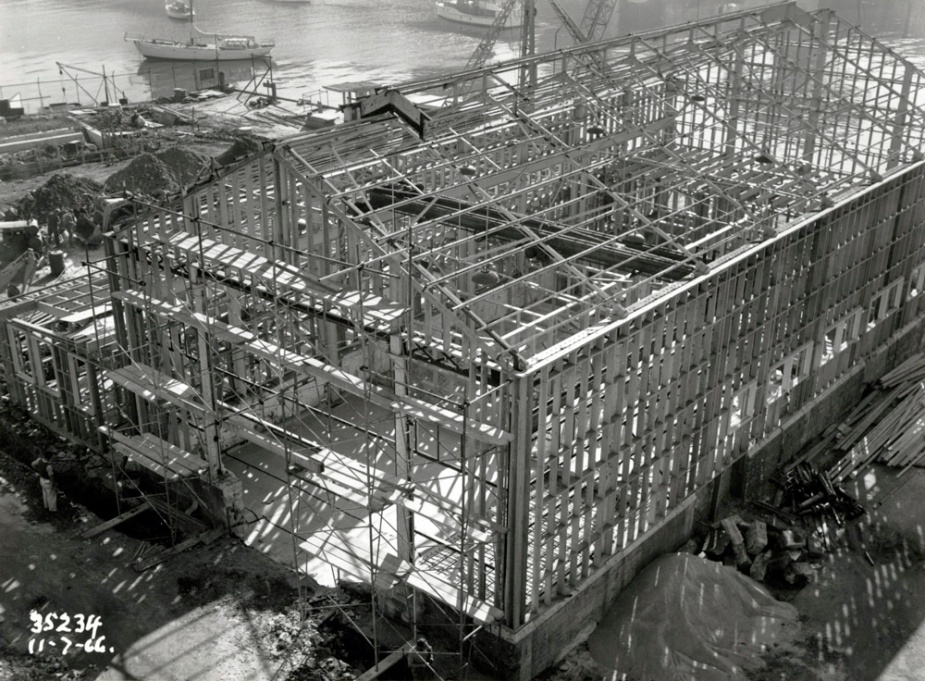 Support facilities under construction in July 1966.
