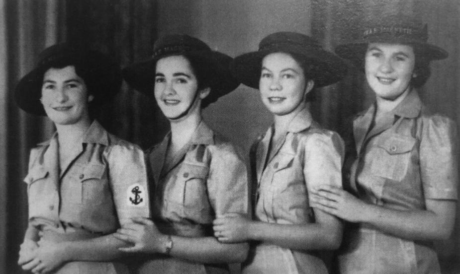 Cora Allen, Joan O'Brien, Rita Horner and Margaret Shergold, WRANS who all served at HMAS Magnetic.
