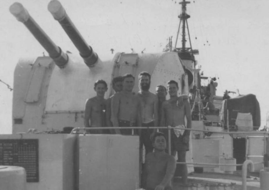 Members of HMAS Culgoa's crew onboard.