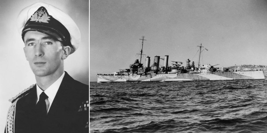 Dacre Smyth's first RAN sea posting was to the flagship, HMAS Australia (II). Smyth would see action while serving in Australia during the Battle of the Coral Sea in May 1942, aged 19.