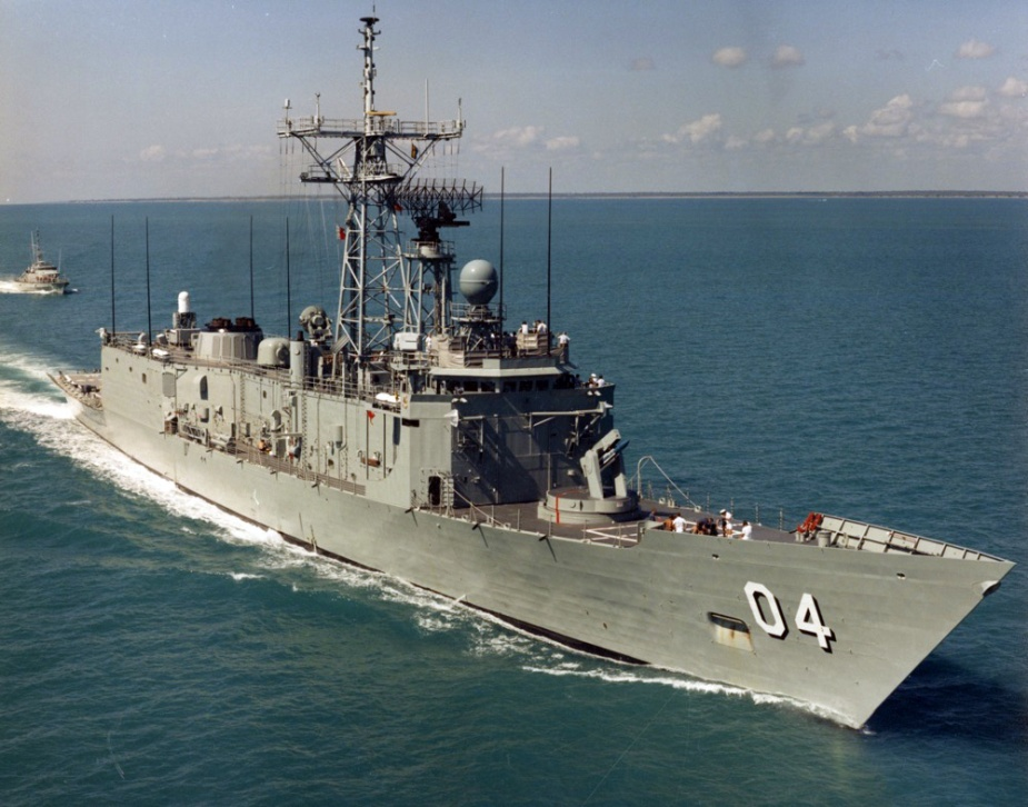 HMA Ships Darwin and Geelong in northern Australian waters in May 1988.