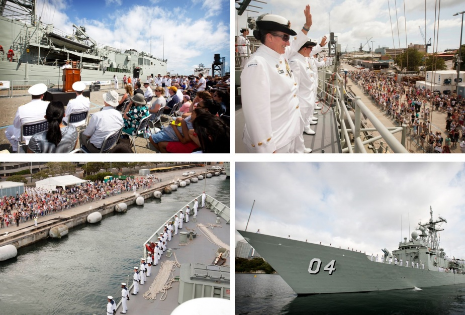 After months of intensive preparation, HMAS Darwin departed her homeport of Garden Island, Sydney for a seven-month deployment as part of Operation SLIPPER in the Middle East Region.
