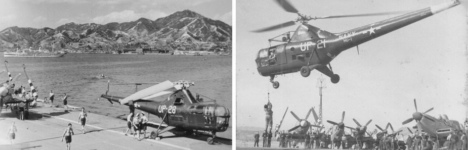 Sydney's Dragonfly helicopter on loan from US forces while operating in the Korean theatre.