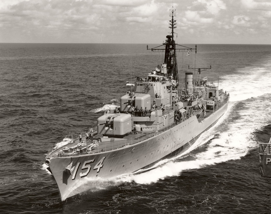 HMAS Duchess acting as escort for HMAS Sydney.