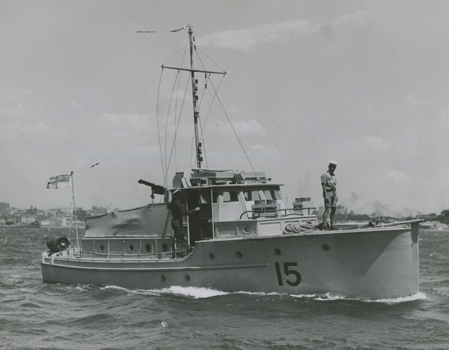 The Naval Auxiliary Patrol fleet was comprised primarily of former pleasure craft, offered freely by their owners. HMAS Esmeralda commissioned in the RAN on 20 November 1941, and served as a Channel Patrol Boat, and Naval Auxiliary Patrol vessel.