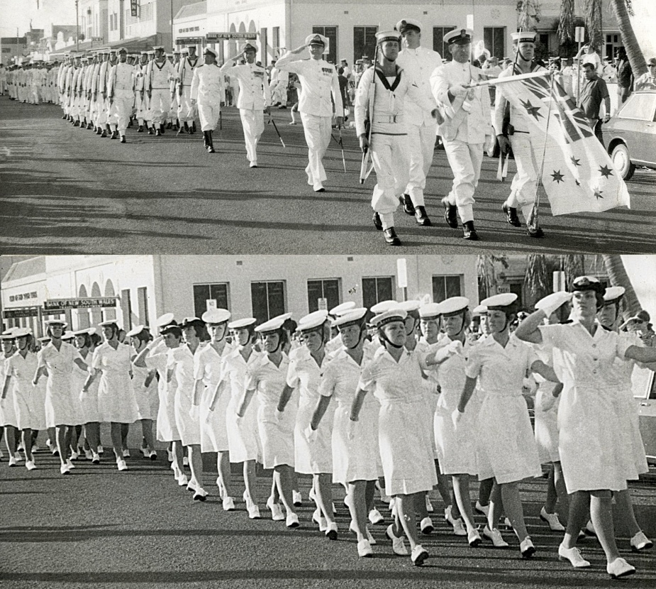 The ship's company of Melville exercising their right to Freedom of Entry to the City of Darwin.