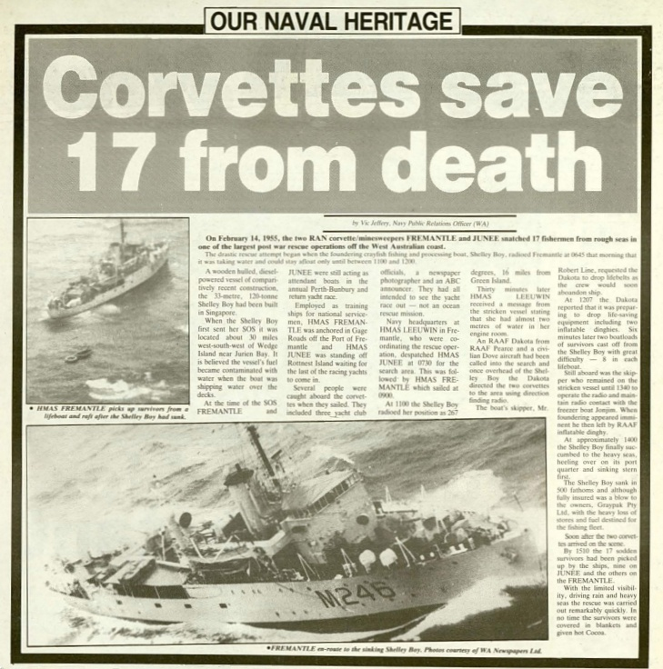Extract from Navy News, 20 February 1987.