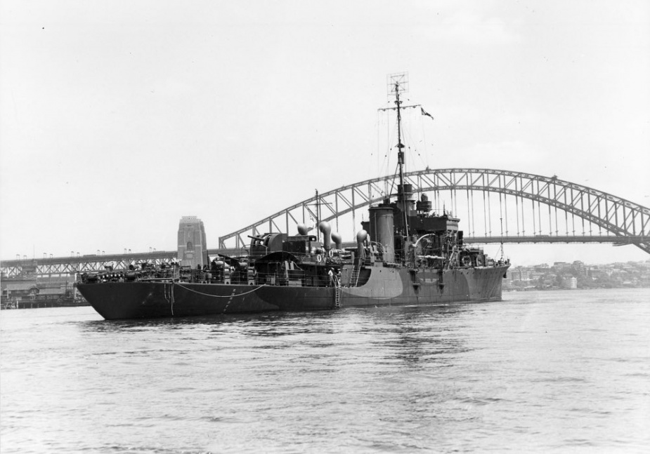 HMAS Gascoyne was built to the British River Class design rather than the Bay Class design.
