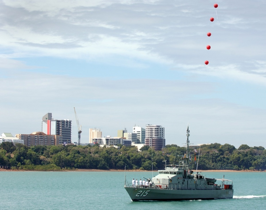 After 22 years of service to the Navy, Geelong will entered Darwin Harbour for the last time on 16 June 2006. She was the seventh of the Navy's fifteen Fremantle Class Patrol Boats to decommission.