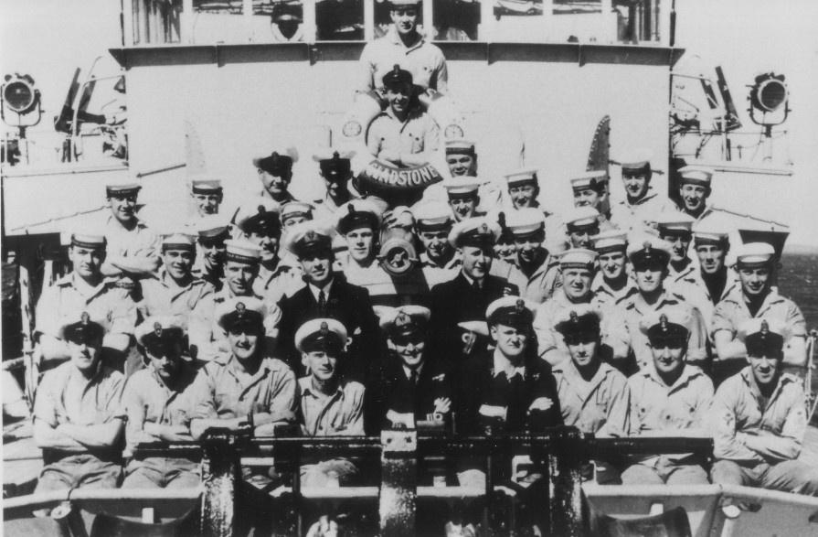 HMAS Gladstone's crew members.