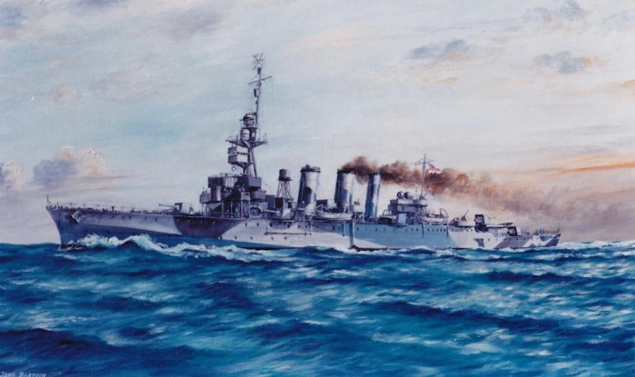 HMAS Adelaide - Painting courtesy of marine artist John Bastock (ex RAN)