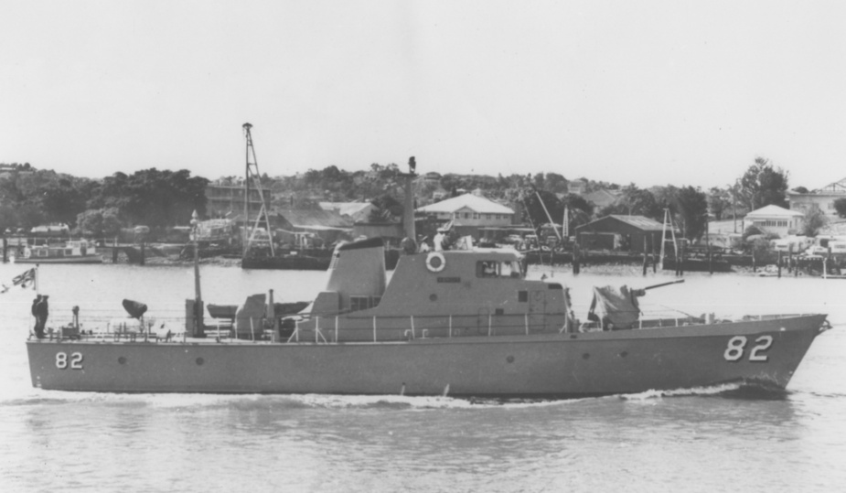 The RAN's six heavy landing craft and HMAS Adroit became familiar sites on the Brisbane River and alongside Moreton.