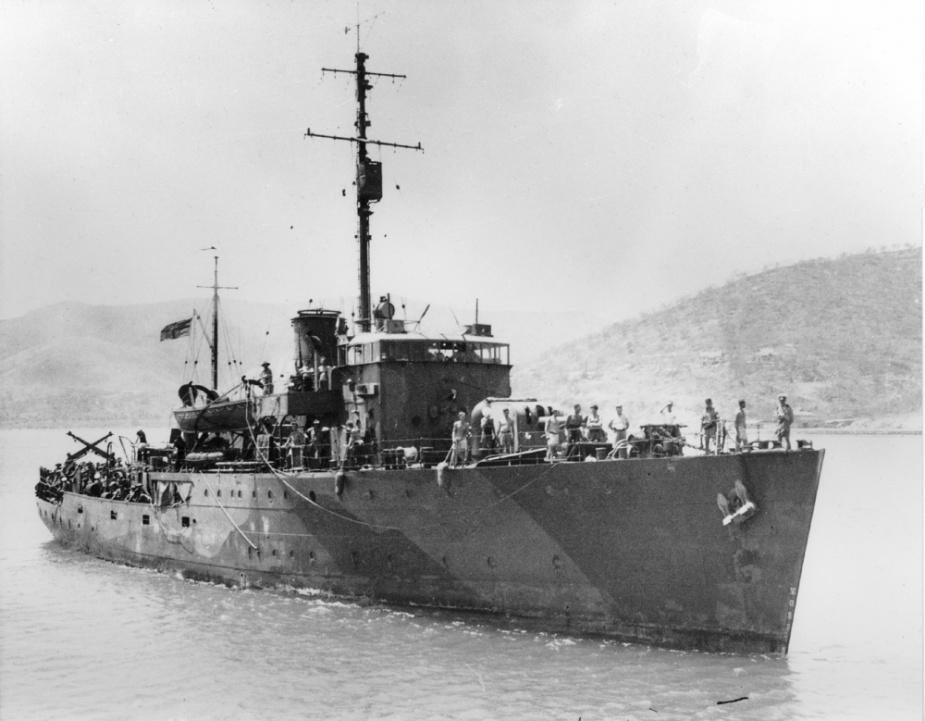 Left: HMAS Armidale in Port Moresby.
