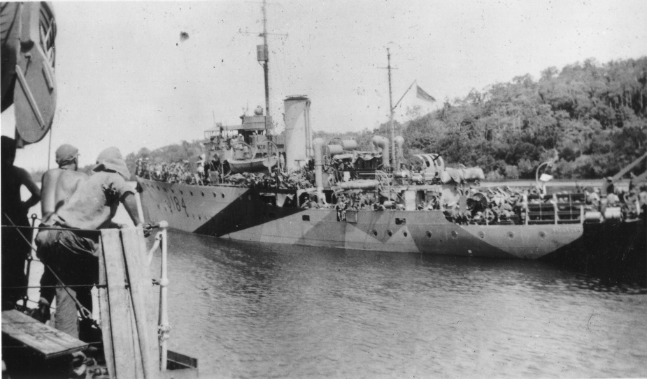 Ballarat wearing her disruptive pattern wartime camouflage paint scheme