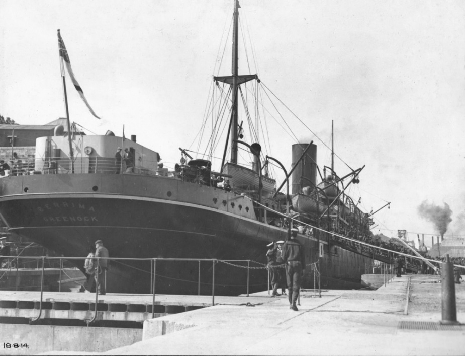 HMAS Berrima 18 August 1914 (Stern view at Cockatoo Island).