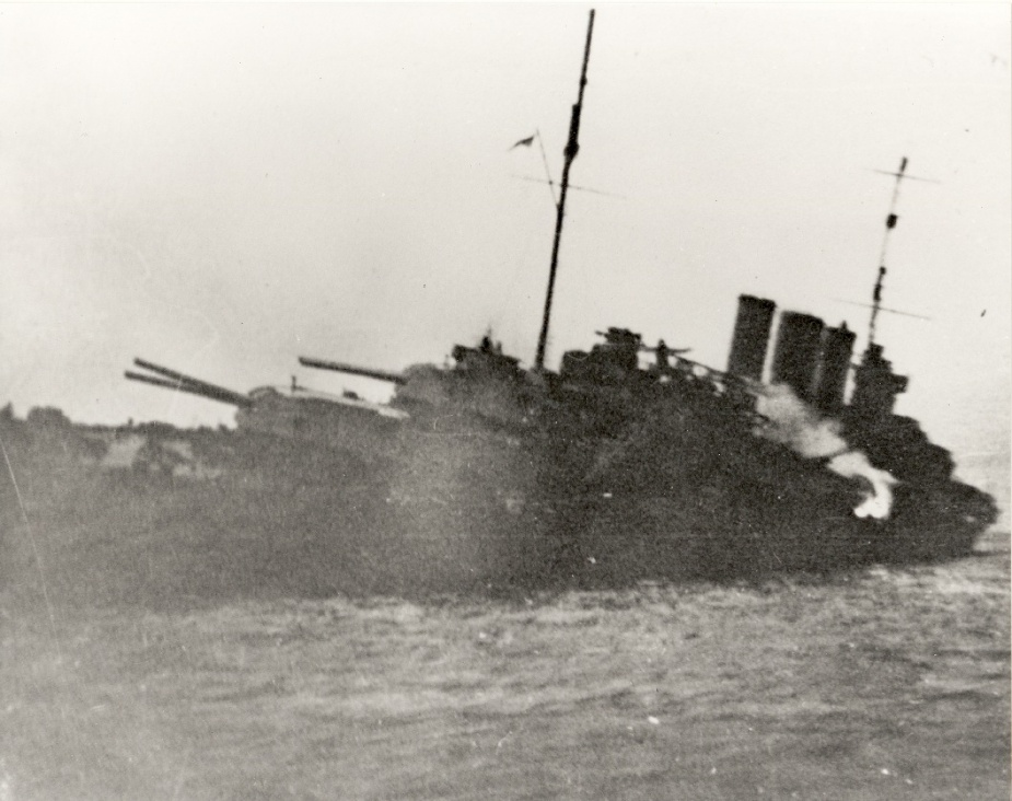 After she was struck by two Japanese torpedoes, it was deemed that HMAS Canberra was not fit for sea. She was evacuated and sunk in a stretch of water off Savo Island, now known as Irombottom Sound due to the 32 Allied ships which were sunk there during WWII.