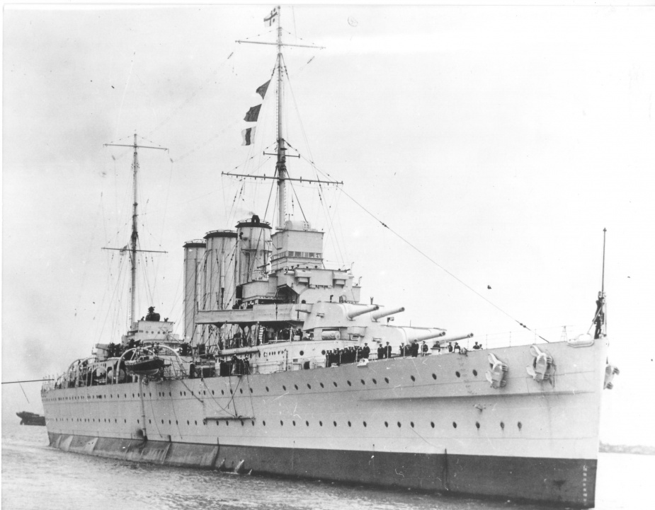 HMAS Canberra (I) prior to the outbreak of World War II