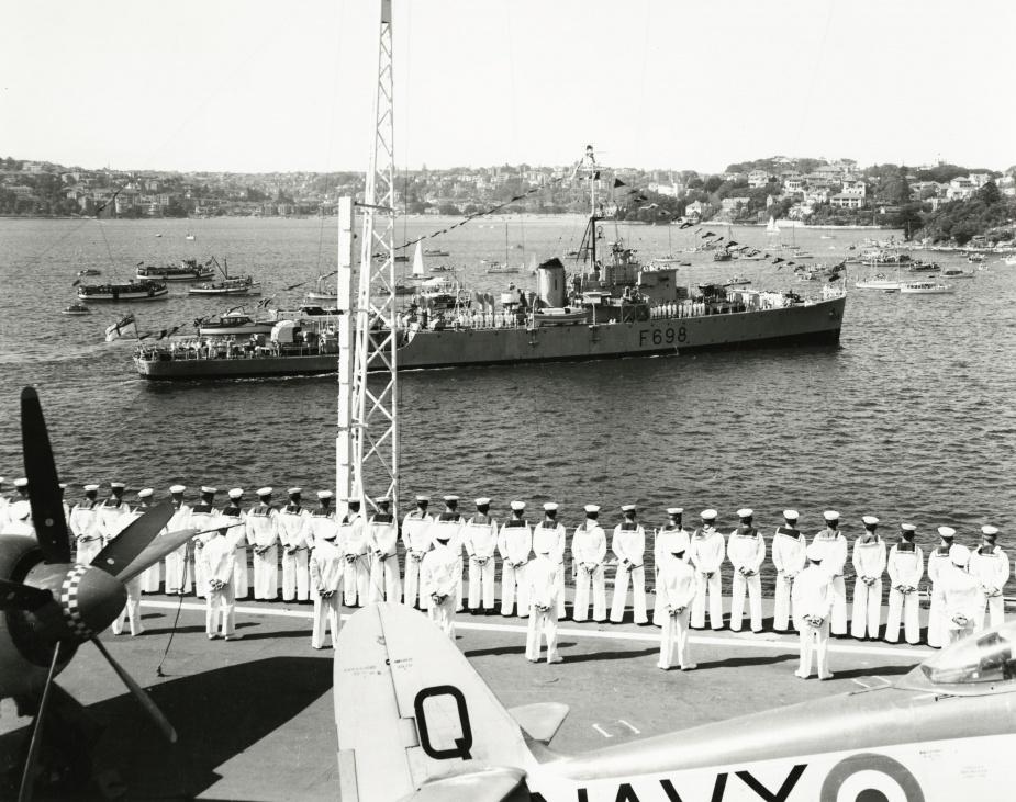HMAS Condamine dressed ship