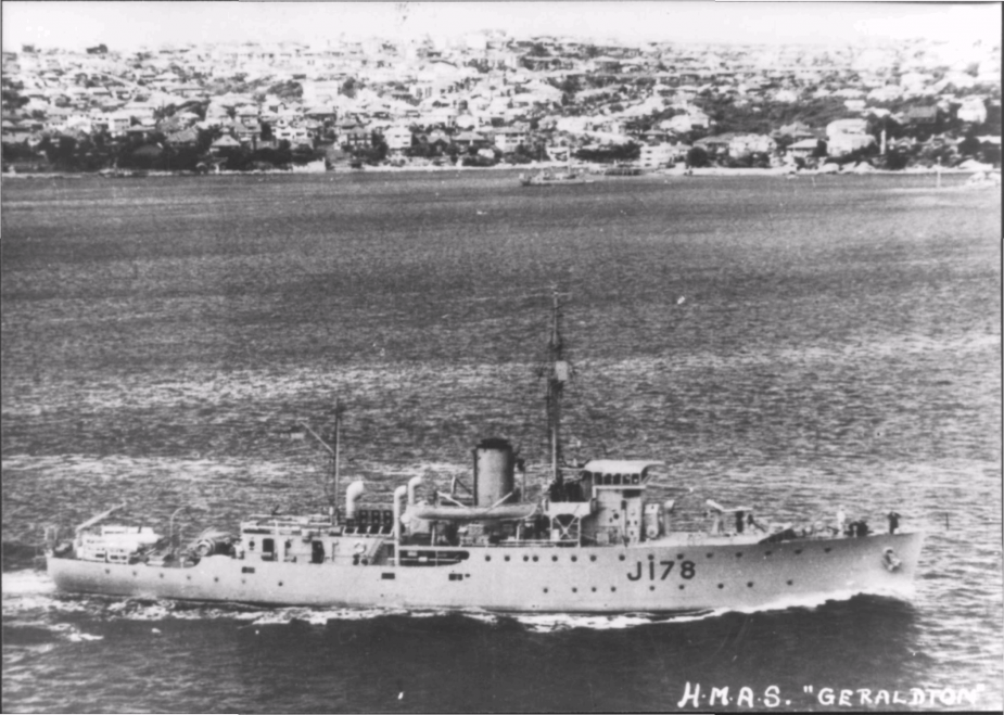 After paying off on 14 June 1946, HMAS Geraldton was transferred to the Turkish Navy and was renamed Antalya.