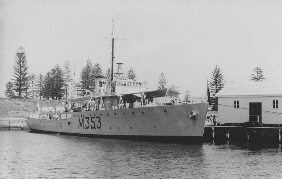 HMNZS Kiama alongside at Kiama, NSW, during a visit to Australia, circa 1969.