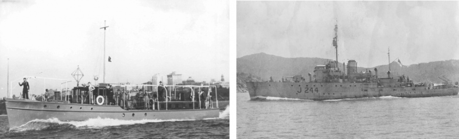 Left: HMAS Kuru. Right: HMAS Castlemaine.