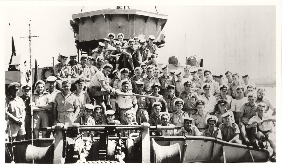 Ship's crew onboard HMAS Lismore