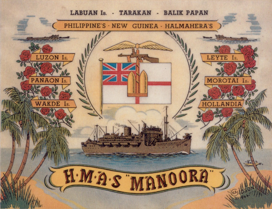 By the end of 1944 Manoora had accrued an impressive record of amphibious service.