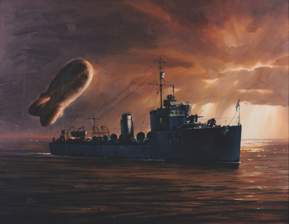 HMAS Parramatta, Painting by Phil Belbin