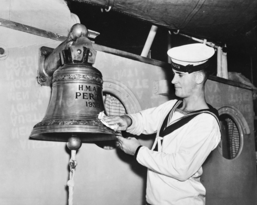 HMAS Perth's ship's bell.