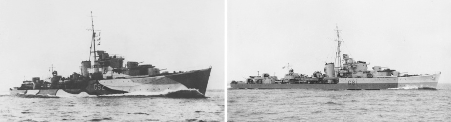 HMAS Quickmatch and Quiberon both formed part of the 4th Destroyer Flotilla