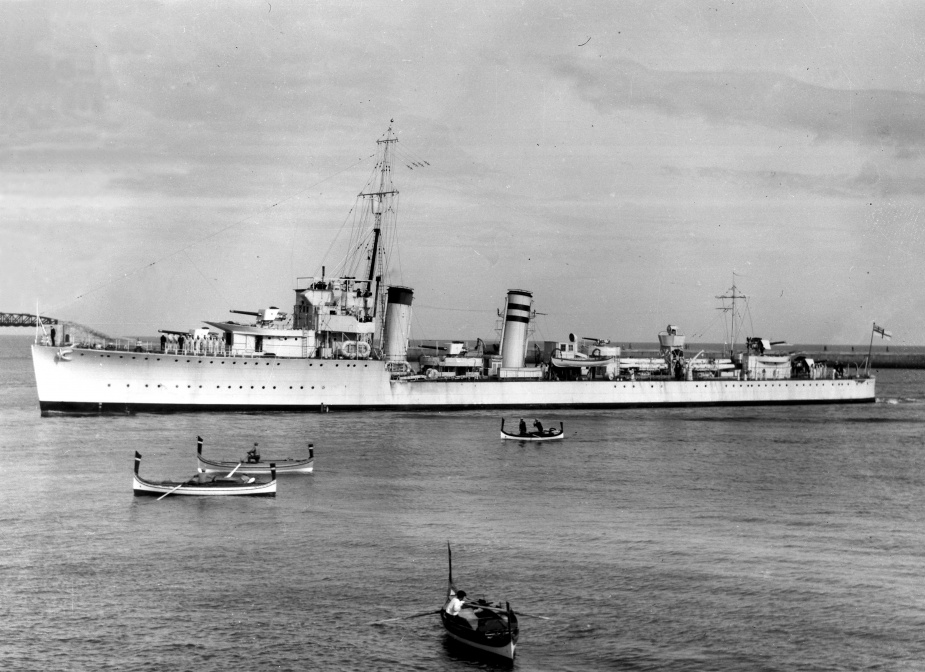 HMAS Stuart visiting Malta during service in the Mediterranean