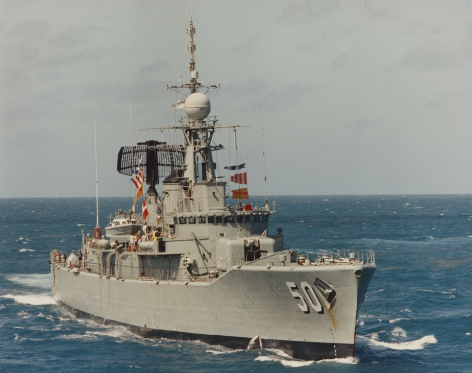 HMAS Swan conducting Officer Of the Watch Manoeuvres.