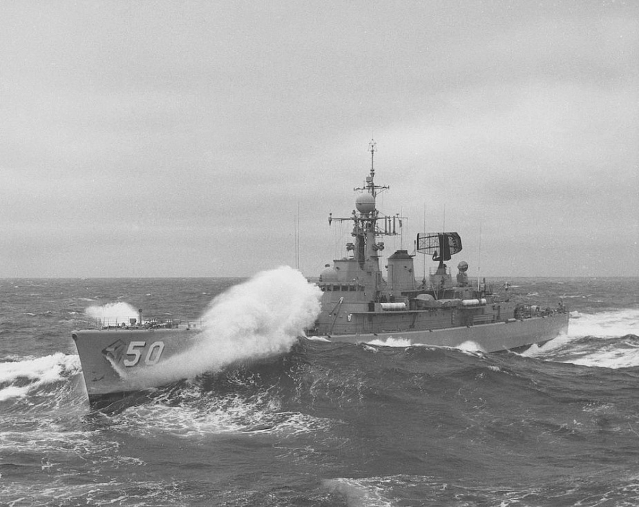 HMAS Swan's meets a rough sea state.