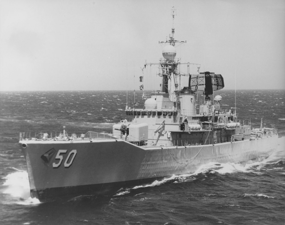 HMAS Swan on one of her many voyages to an from South East Asia.
