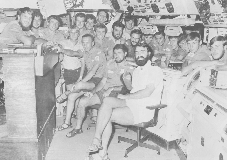 The crew of Swan's Operations department 1980.