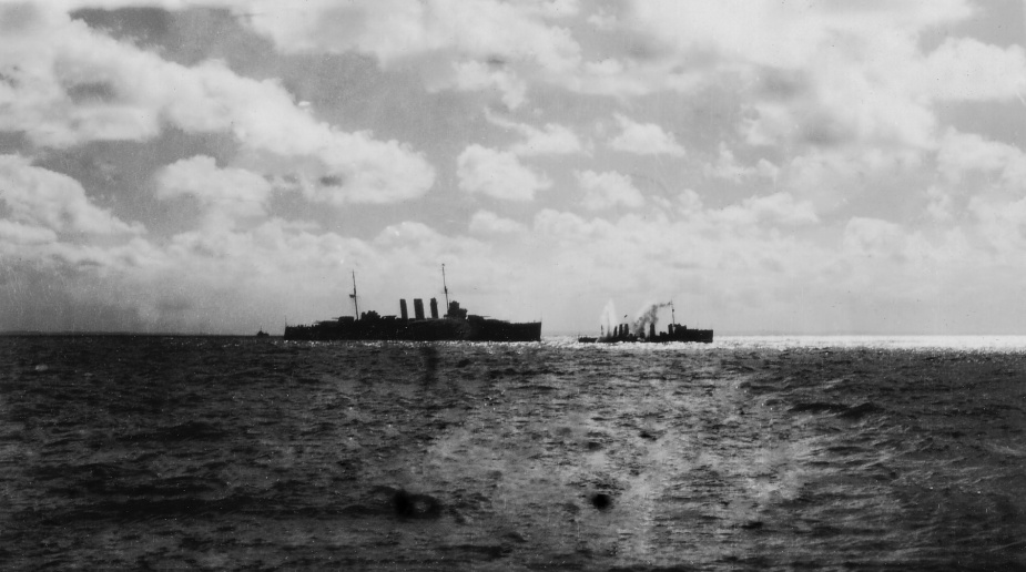 HMAS Torrens prior to being used as a Fleet Gunnery Practice Target off Sydney Heads, 24 November 1930.
