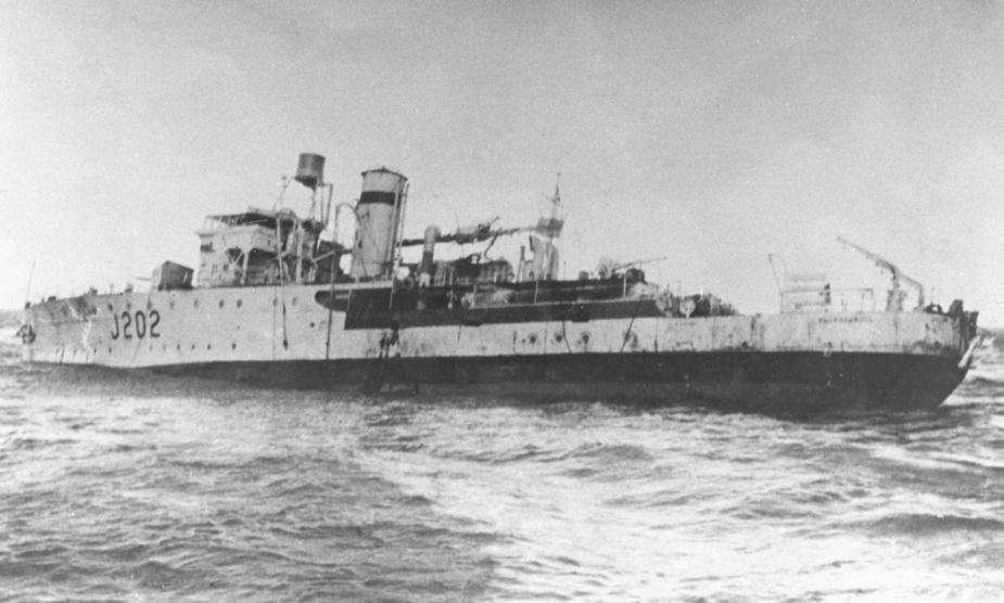 Warrnambool after she drifted across the line of mines and began sinking.