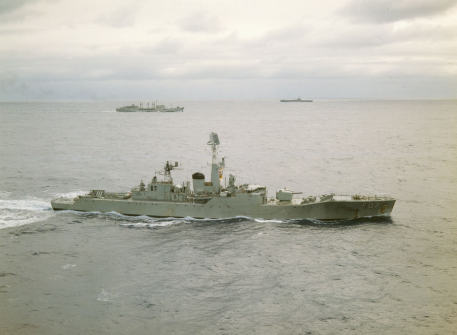 Yarra (III) at sea.